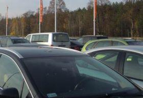 Parking przy modlinie